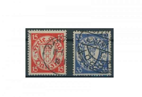 Briefmarken Deutsches Reich Einzelausgaben Danzig 1920-1939 Michel-Nr. 214-215 gestempelt