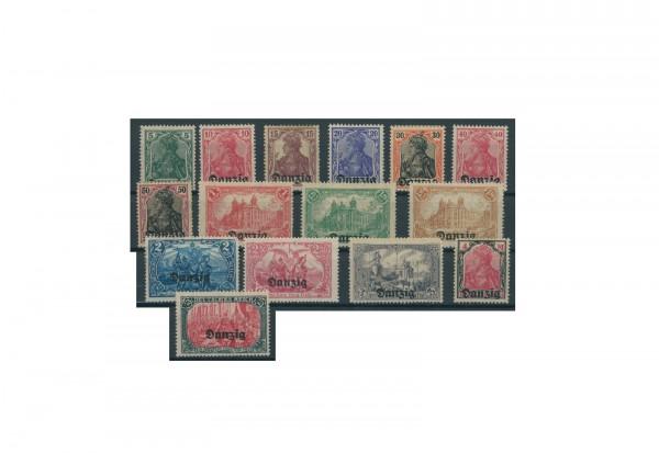 Briefmarken Deutsches Reich Einzelausgaben Danzig 1920-1939 Michel-Nr. 1-15 gestempelt