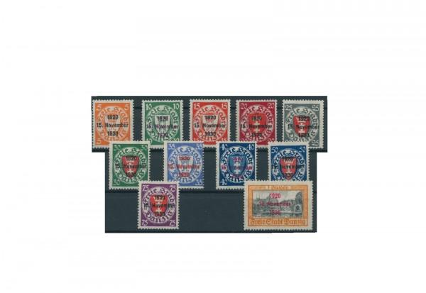 Briefmarken Deutsches Reich Einzelausgaben Danzig 1920-1939 Michel-Nr. 220-230 gestempelt