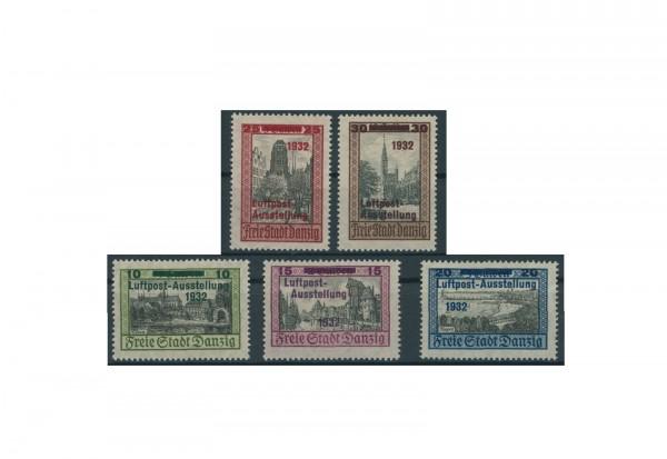 Briefmarken Deutsches Reich Einzelausgaben Luposta Danzig 1932 Michel-Nr. 231-235 gestempelt