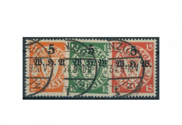 Briefmarken Deutsches Reich Einzelausgaben Danzig 1920-1939 Michel-Nr. 237-239 gestempelt