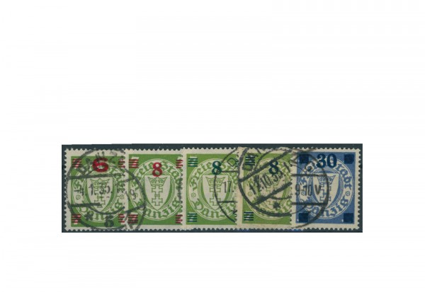 Briefmarken Deutsches Reich Einzelausgaben Danzig 1920-1939 Michel-Nr. 240-242 gestempelt