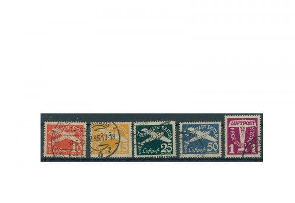 Briefmarken Deutsches Reich Einzelausgaben Danzig 1920-1939 Michel-Nr. 251-255 gestempelt