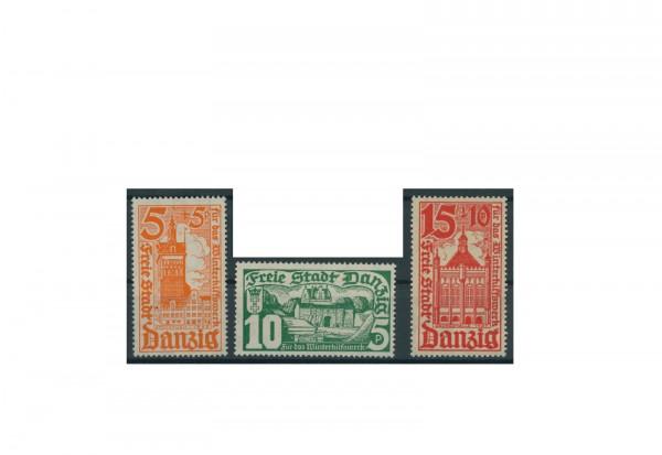 Briefmarken Deutsches Reich Einzelausgaben Danzig 1920-1939 Michel-Nr. 256-258 gestempelt