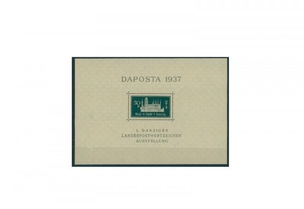 Briefmarken Danzig DAPOSTA 1937 Block 1 gestempelt