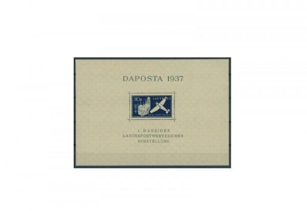 Briefmarken Danzig DAPOSTA 1937 Block 2 gestempelt