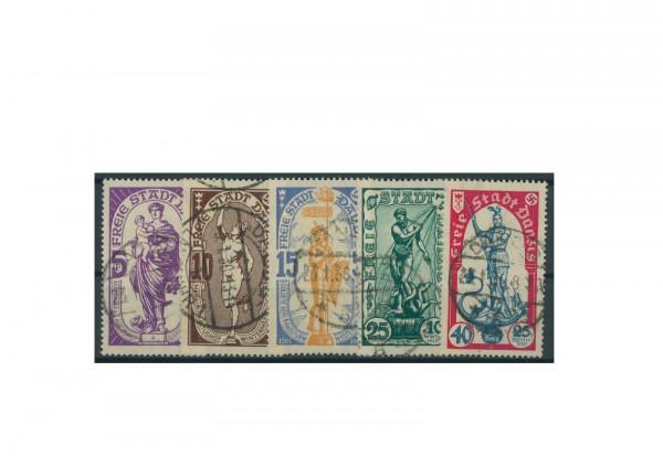 Briefmarken Deutsches Reich Einzelausgaben Danzig 1920-1939 Michel-Nr. 276-280 gestempelt