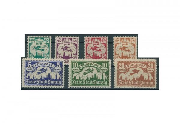 Briefmarken Deutsches Reich Freie Stadt Danzig 1920-1939 Michel-Nr. 112-118 gestempelt