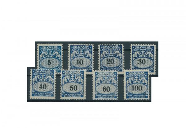 Briefmarken Deutsches Reich Freie Stadt Danzig 1921-1938 Michel-Nr. P 30-37 gestempelt