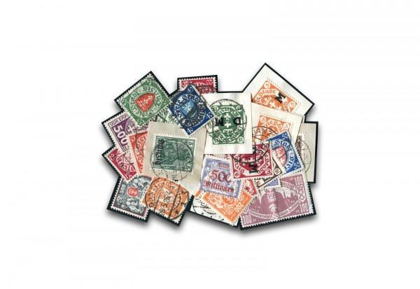 Briefmarken Danzig 25 verschiedene Marken