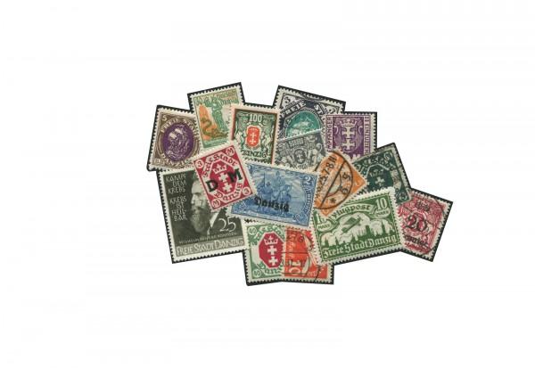 Briefmarken Danzig Kollektion 100 verschiedene Marken postfrisch und gestempelt