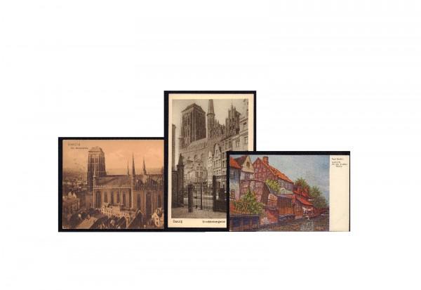 Ansichtskarten Danzig 1920-1930 gebraucht und ungebraucht