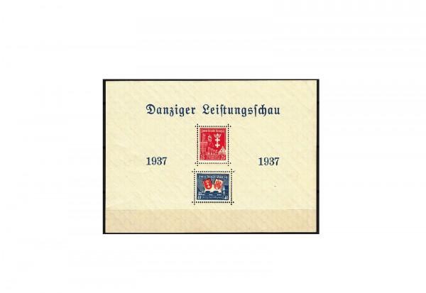 Briefmarken Danzig Zeitungsschau 1937 Block 3 gestempelt