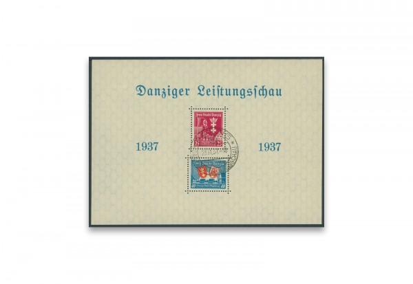 Briefmarken Danzig Leistungsschau 1937 Block 3 I gestempelt