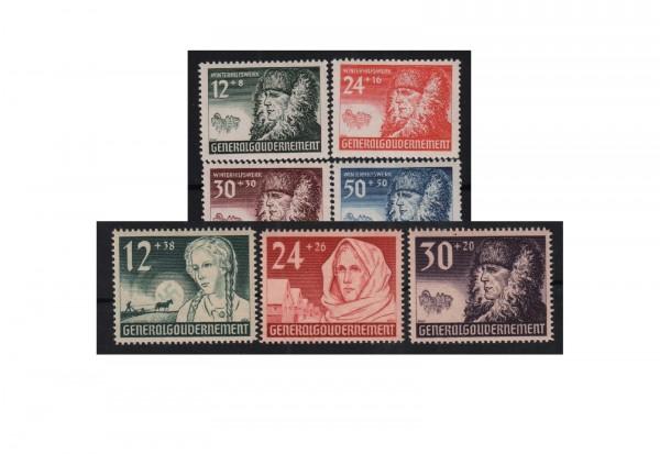 Generalgouvernement Mi.Nr. 56-62 postfrisch
