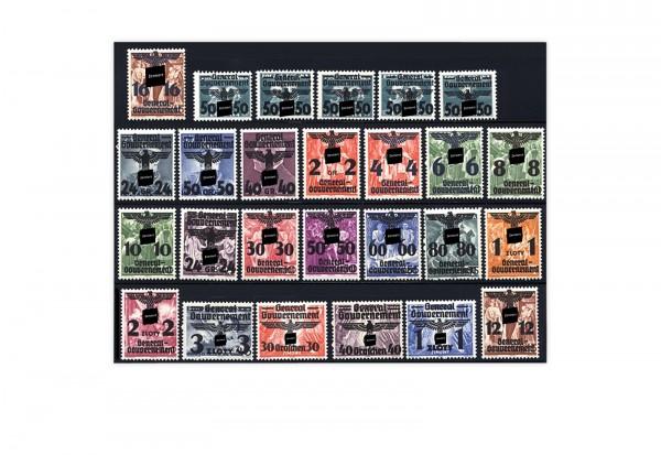 Briefmarken Deutsches Reich Generalgouvernement Michel-Nr.14-39 postfrisch