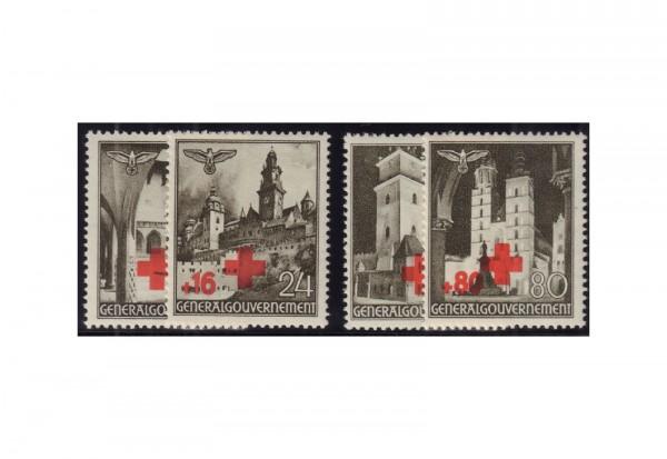 Generalgouvernement Freimarken: Rotes Kreuz 1940 Michel Nr. 52/55 postfrisch
