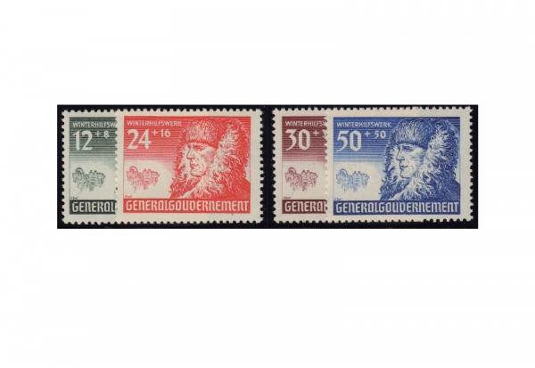Generalgouvernement Freimarken: Winterhilfe 1940 Michel Nr. 59/62 postfrisch