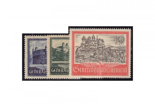 Generalgouvernement Freimarken: Bauwerke 1941 Michel Nr. 63/65 postfrisch