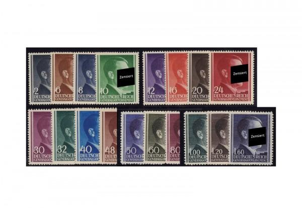 Generalgouvernement Freimarken: Adolf Hitler 1942 Michel Nr. 71/88 A postfrisch