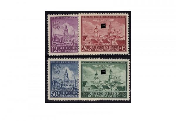 Generalgouvernement Marken 1942: 600 Jahre Stadt Lublin Michel Nr. 92/95 postfrisch