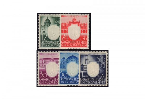 Generalgouvernement 1943: 3 Jahre NSDAP im Generalgouvernement Michel Nr. 105/9 postfrisch