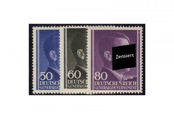 Generalgouvernement Freimarken: Adolf Hitler 1943 Michel Nr. 110/112 postfrisch