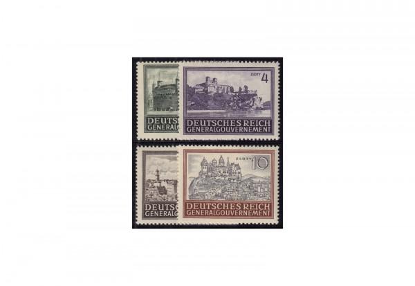 Generalgouvernement Freimarken: Bauwerke 1943 Michel Nr. 113/116 postfrisch