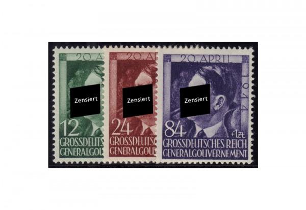 Generalgouvernement 1944: 55. Geburtstag von Adolf Hitler Michel Nr. 117/19 postfrisch