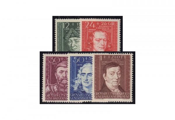 Generalgouvernement 1944: Kulturträger (II) Michel Nr. 120/124 postfrisch