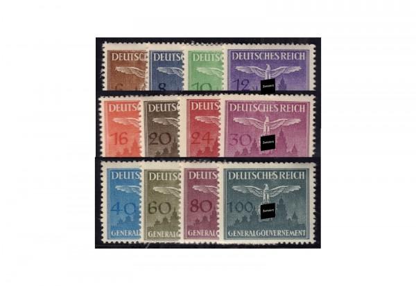 Generalgouvernement Dienstmarken 1943: Hoheitzeichen über Burg Krakau Michel Nr. D 25/36 postfrisch