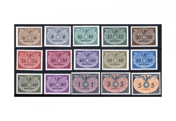 Generalgouvernement Dienstmarken 1940 Michel Nr. D 1/15 gestempelt