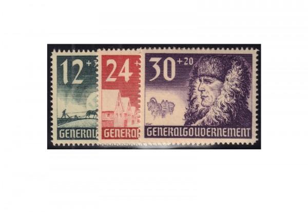 Generalgouvernement 1940: 1 Jahr Generalgouvernement Michel Nr. 56/58 gestempelt