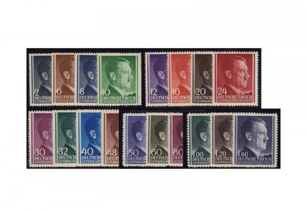 Generalgouvernement Freimarken 1941/2: Adolf Hitler Michel Nr. 71/88 A gestempelt