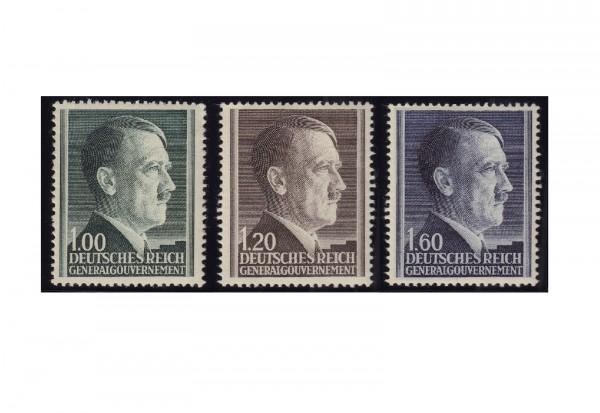 Generalgouvernement Freimarken 1942: Adolf Hitler Michel Nr. 86/88 gestempelt