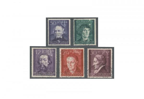Generalgouvernement 1943: Kulturträger Michel Nr. 96/100 gestempelt