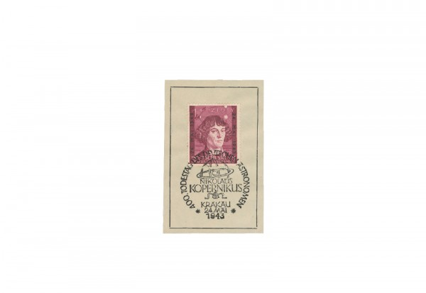 Generalgouvernement 1943: 400. Todestag von Nikolaus Kopernikus Michel Nr. 104 gestempelt