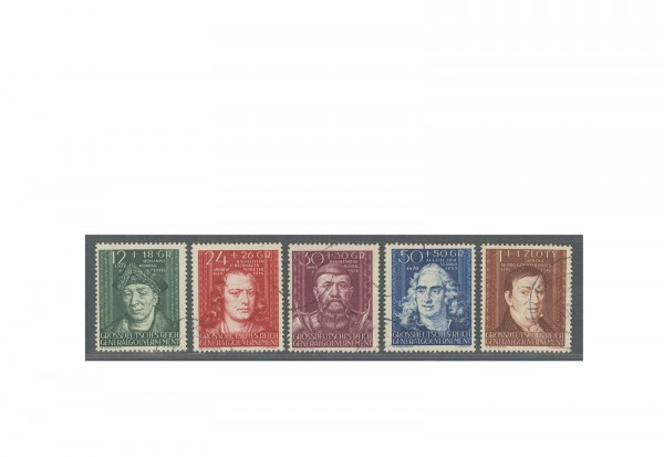 Generalgouvernement 1944: Kulturträger (II) Michel Nr. 120/24 gestempelt