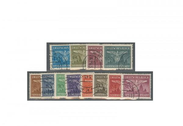 Generalgouvernement Dienstmarken 1943 Michel Nr. D 25/36 gestempelt