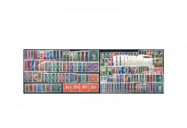 Briefmarken Generalgouvernement-Sammlung komplett Michel-Nr. 1/125 inkl. 86-88 B gestempeltt