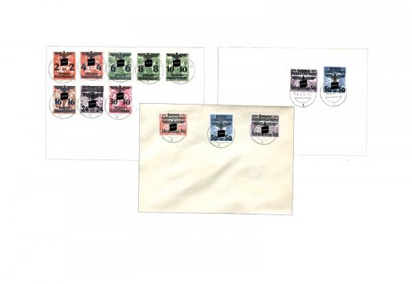 Deutsches Reich Hakenkreuz-Überdrucke Generalgouvernement 1940 gestempelt