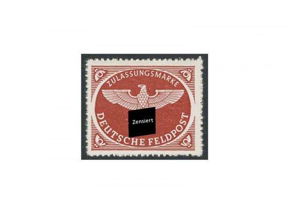 Briefmarke Deutsches Reich Feldpostpäckchen 1942 Michel-Nr. 2 B postfrisch
