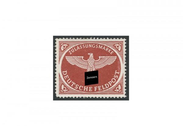 Briefmarke Deutsches Reich Feldpostpäckchen 1942 Michel-Nr. 2 A gestempelt