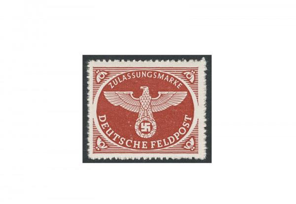 Briefmarke Deutsches Reich Feldpostpäckchen 1942 Michel-Nr. 2 B gestempelt