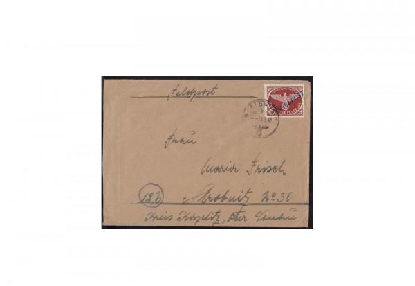 Deutsches Reich Michel-Nr. 10 Bb I Inselpost gestempelt und geprüft auf Brief Agramer Aufdruck