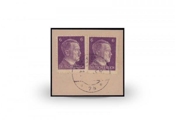 Briefmarke Deutsches Reich 1944/45 Michel-Nr. 15 gestempelt Fotoattest