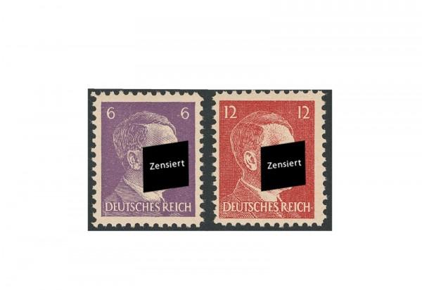 Briefmarken Amerikanische Kriegsfälschung 1944 Michel-Nr. 15-16 postfrisch geprüft
