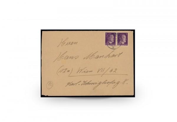 Briefmarken Deutsches Reich 1944/45 Michel-Nr. 15 gestempelt Fotoattest