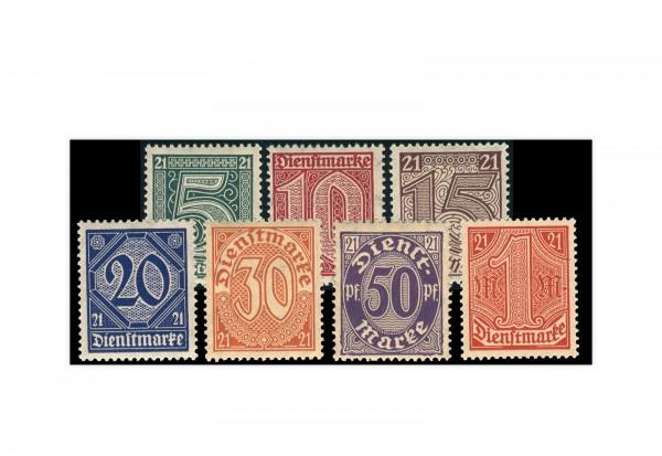 Deutsches Reich Mi. Nr. D 16/22 postfrisch