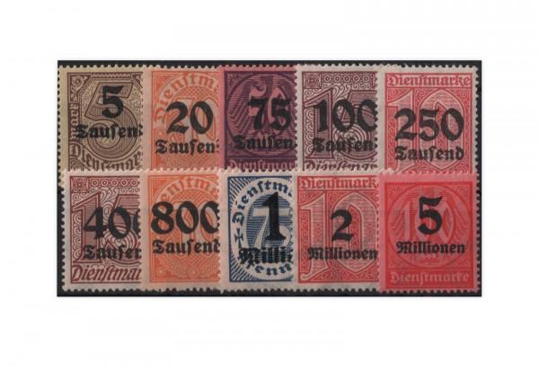 Deutsches Reich Mi. Nr. D 89/98 postfrisch